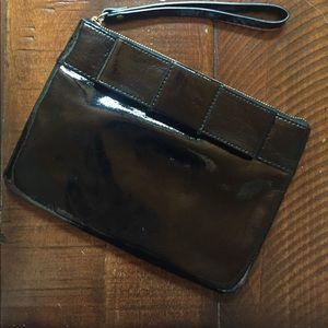 Kate Spade Black Patent Leather Wristlet